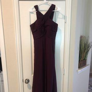 Bill levkoff bridemaids dress eggplant